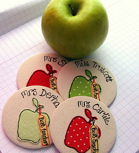 Personalised Best Teacher Apple Mirror - compact mirrors