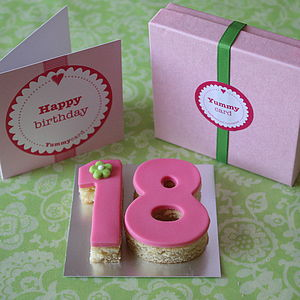 Teen Birthday Age Cake Card - birthday cards