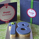 Teen Birthday Age Cake Card
