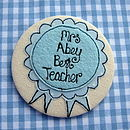 Blue Spotty Personalised Rosette Mirror
