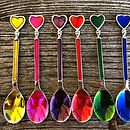 Coloured Heart Spoons