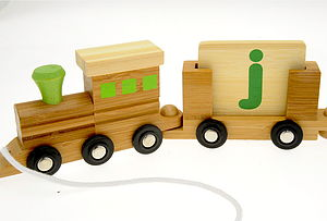 Personalised Eco Name Train - traditional toys