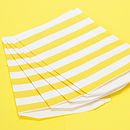 Wide Striped Paper Bags