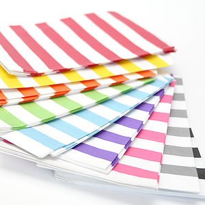 Wide Striped Paper Bags - cards & wrap