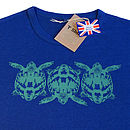 Midnight Blue Tortoise T Shirt front print