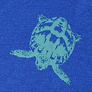 Midnight Blue Tortoise T Shirt back print