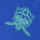 Midnight Blue Tortoise T Shirt back print