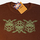 Chocolate Tortoise T Shirt front print