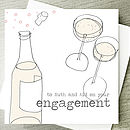 champagne bottle engagement