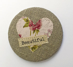 Linen Pocket Mirror - wedding favours