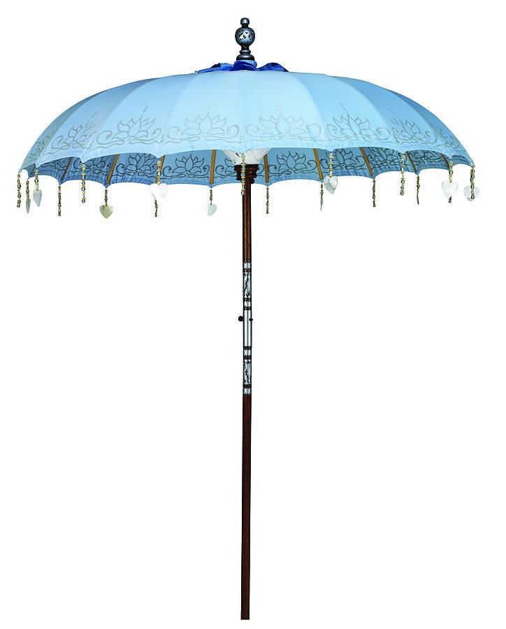 Indian Garden Company. Sea Breeze Painted Sun Parasol