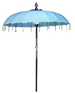 Sea Breeze Painted Sun Parasol - outdoor decorations