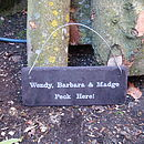 Personalised Slate Sign for Chicken Coop