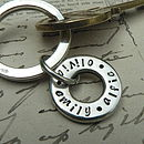 Personalised Names Key Ring Charm