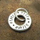 Personalised Names Keyring Charm