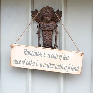 Friends Tea Vintage Sign Personalise - garden sale