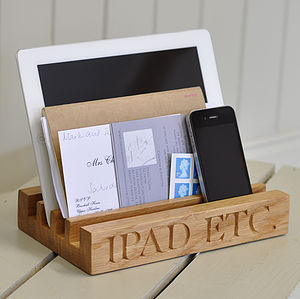 Oak Stand For iPad - 40th birthday gifts