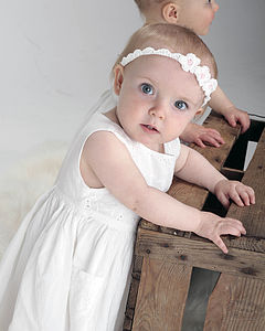 Child's Handmade Daisy Headband - wedding fashion