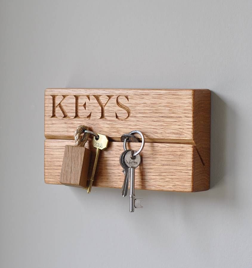 small key rack by the oak rope company. Black Bedroom Furniture Sets. Home Design Ideas