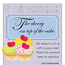 Bespoke Romantic Fiction Book Cover Print - cup cakes motif