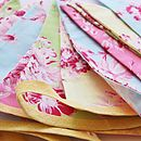 Cotton Fabric Bunting 'Pastel Rose'