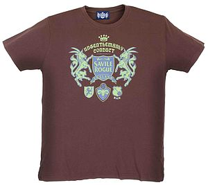Brown 'Ungentlemanly Conduct' T Shirt