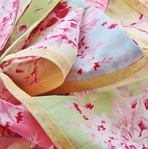Cotton Fabric Bunting 'Pastel Rose' - outdoor decorations