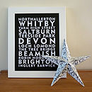 Favourite Destinations Personalised Print