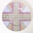 Green Union Jack Plate