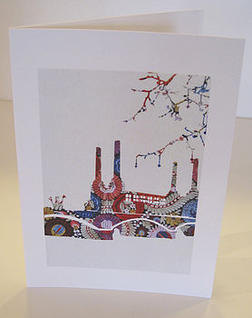 Battersea Embroidery Card
