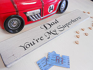 Dad's Gift Personal Superhero Plaque