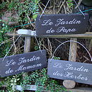 Engraved Slate Garden Signs in French Shabby Chique