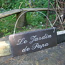 Engraved Slate French Sign for Father's Day