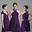 Multiway knee length 3 styles in purple
