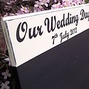 Personalised Seating Plan Wedding Chalkboard
