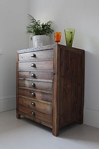 Single Rustic Pine Storage Cupboard - cabinets