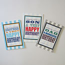 Male relatives birthday greeting cards