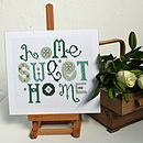 'Home Sweet Home' Cross Stitch Print