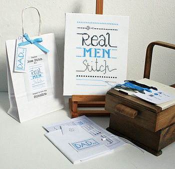 'Real Men Stitch' Cross Stitch Kit
