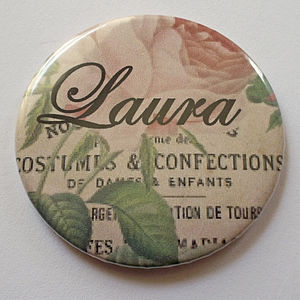 Personalised Pocket Mirror - beauty & pampering