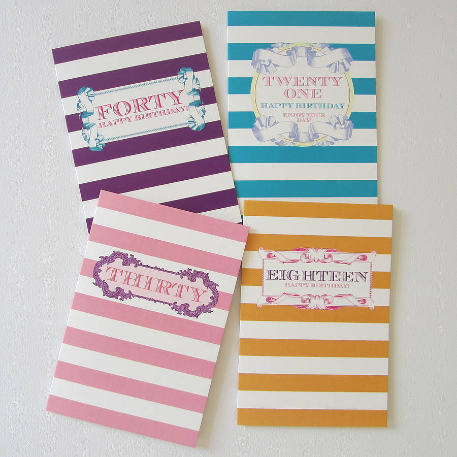Milestone birthday cards by dimitria jordan notonthehighstreet milestone birthday cards kristyandbryce Image collections