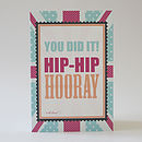 Hip hip hooray congratulations greeting card