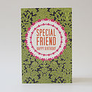 'Special Friend' Birthday Card