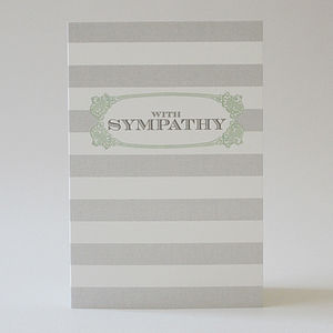 'With Sympathy' Greetings Card - sympathy & sorry cards