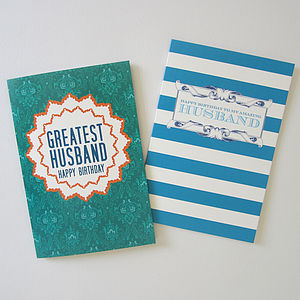Husband Birthday Card - for your partner