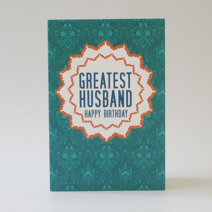 Pattern Husband Birthday Greeting Card
