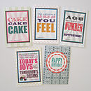 Unisex Birthday Cards