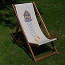 Hand Silkscreen Printed Deckchair