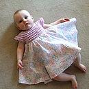 Liberty Tana Lawn Dress With Crochet Bodice