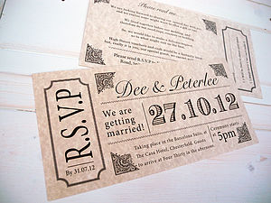 Vintage Style Concert Ticket - invitations